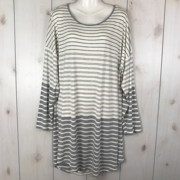 88e2a48bbab0cf Christian Siriano Other - Christian Siriano Gray Striped Nightgown Pajamas
